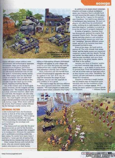 PCGamer's first look at Empires from the August 2003 issue (Page 2)