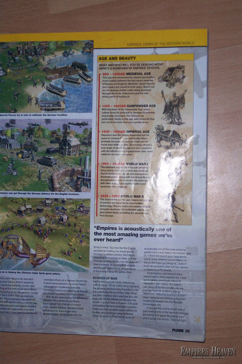 Empires Preview in the UK mag, PCZone (Page 4)